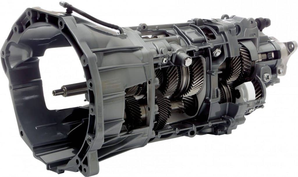 Inside of a 6-speed manual transmission