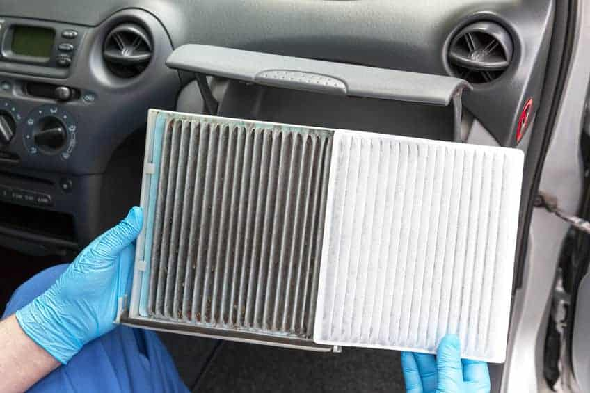 Cabin-Air-Filter-Comparison-Dirty