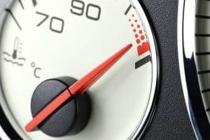 Car temperature gauge overheating