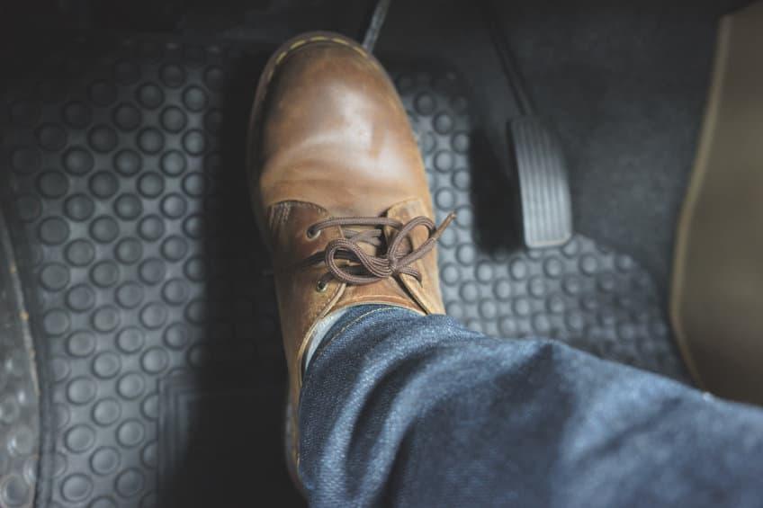 Brake-pads-pressing-the-pedal