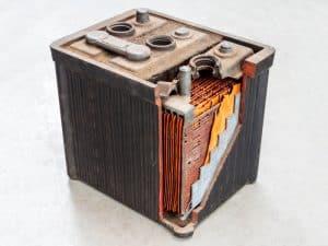 Car Battery Cells open