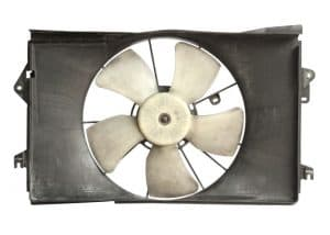 18506778 - radiator cooler fan isolated on white background