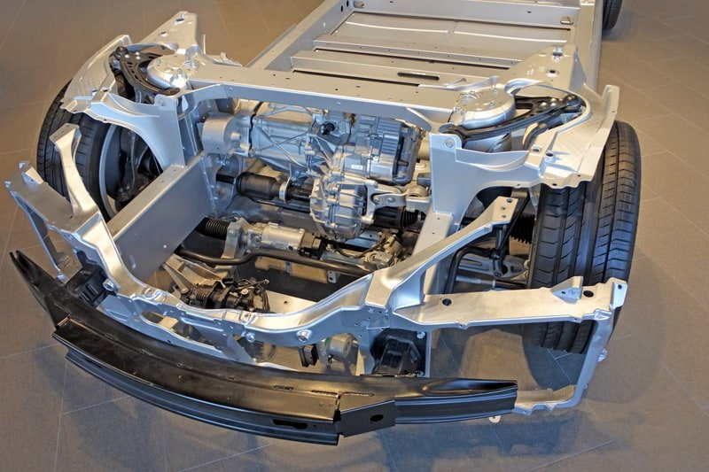 Tesla Chassis and Battery