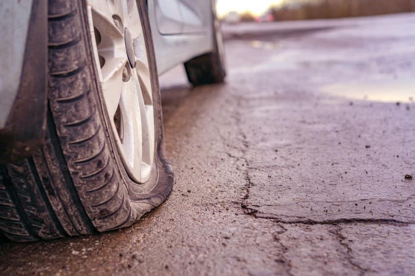 Blown-Tire-Nail-Pounding