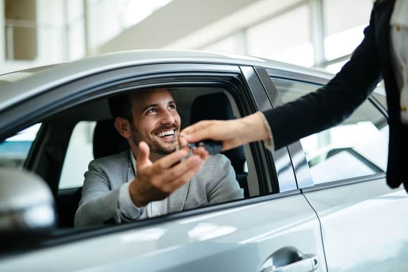 Buying a car - happy customer
