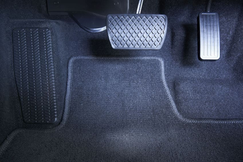 Brake and accelerator pedal, automatic transmission car.