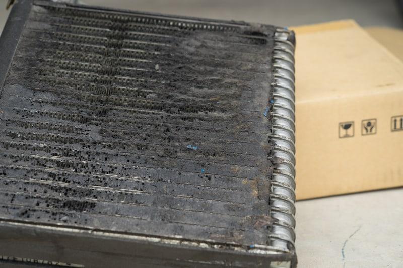 AC evaporator clogged up