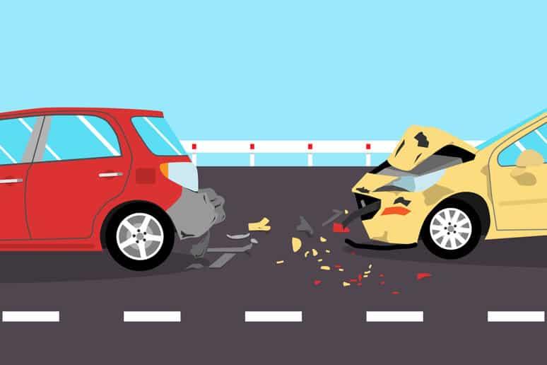 Car crash llustration