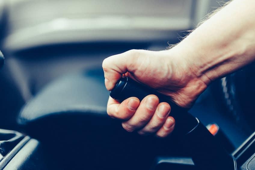 Car emergency hand brake lever