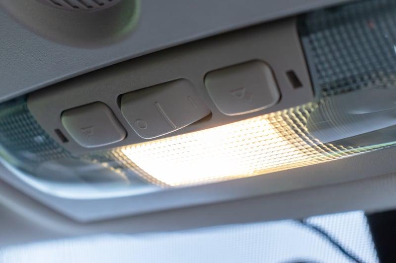 Car interior dome light