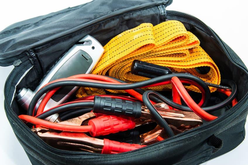 An emergency kit for a car