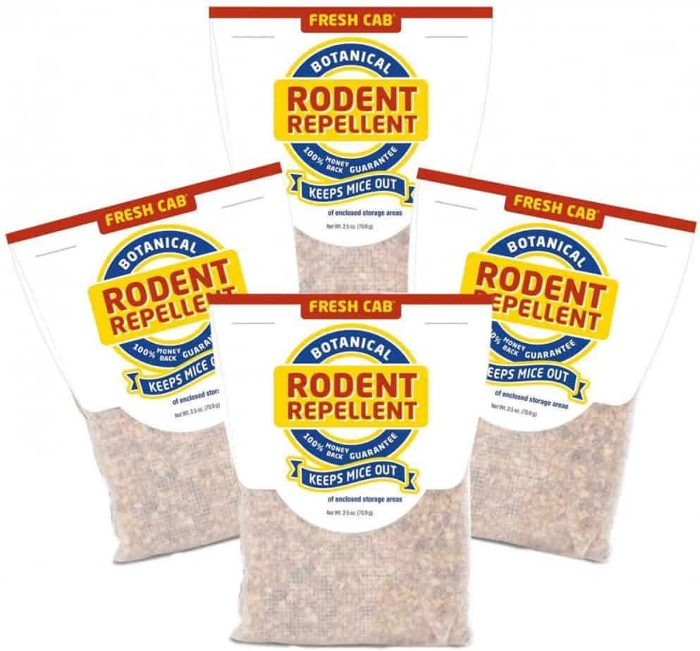 Fresh Cab Botanical Rodent Repellent – Environmentally Friendly, Keeps Mice Out, 4 Scent Pouches