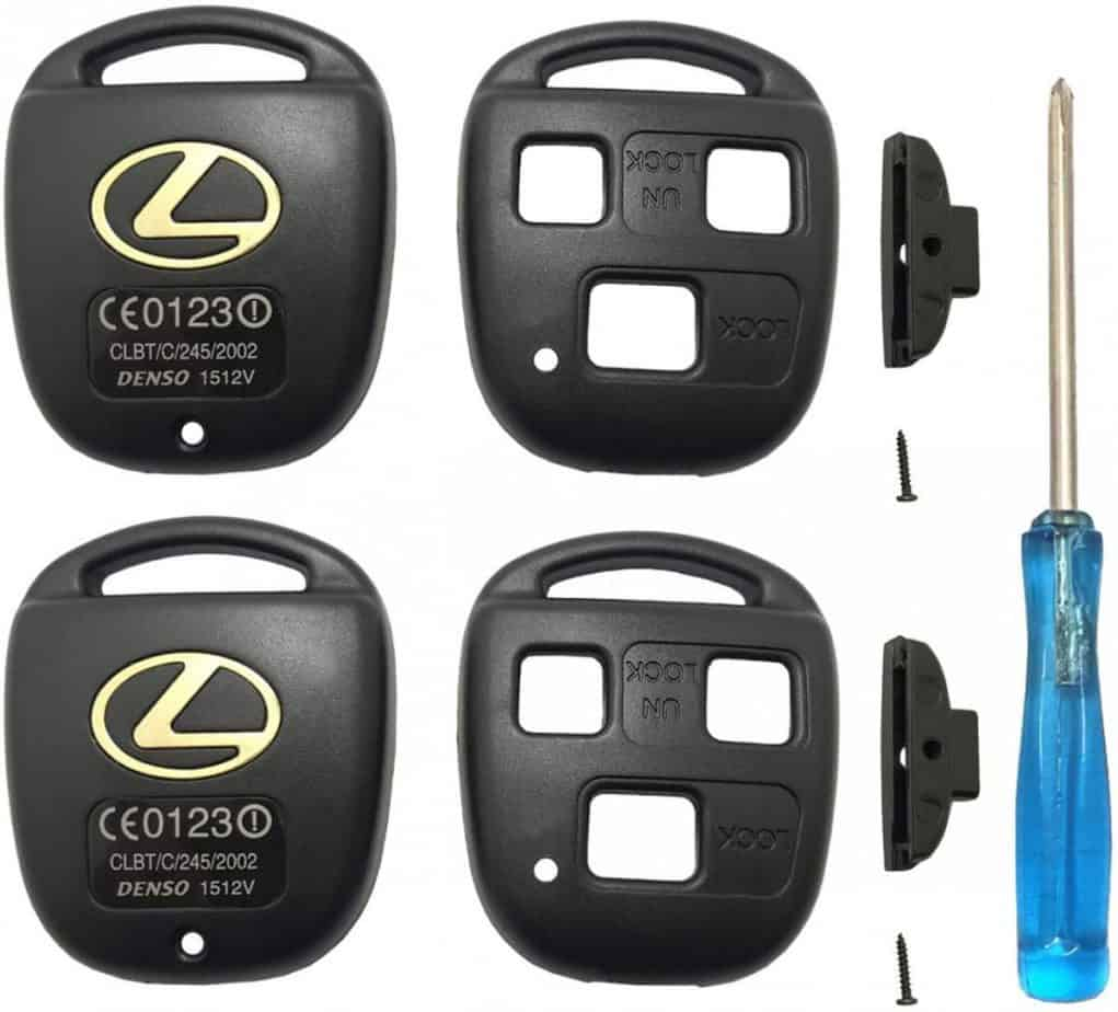 Replacement Keyless Entry Remote Key Fob Cover for Lexus ES GS GX is LS LX RX