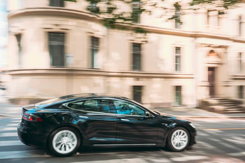 Tesla accelerating quickly