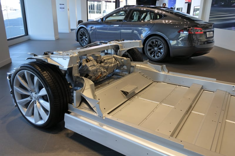Tesla drivetrain transmission motor