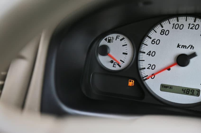 Car fuel gauge low