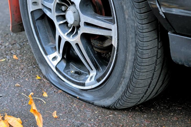 Car tire - flat