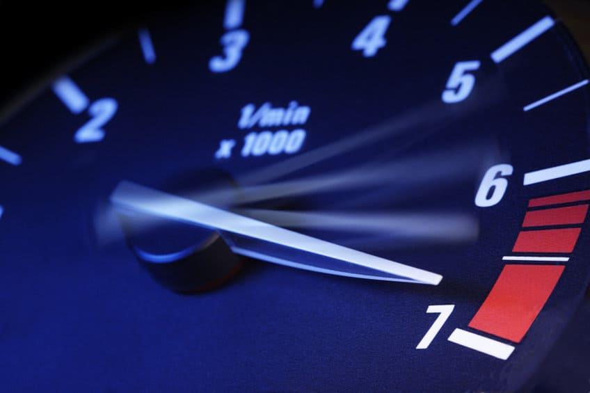 Tachometer RPM Redline