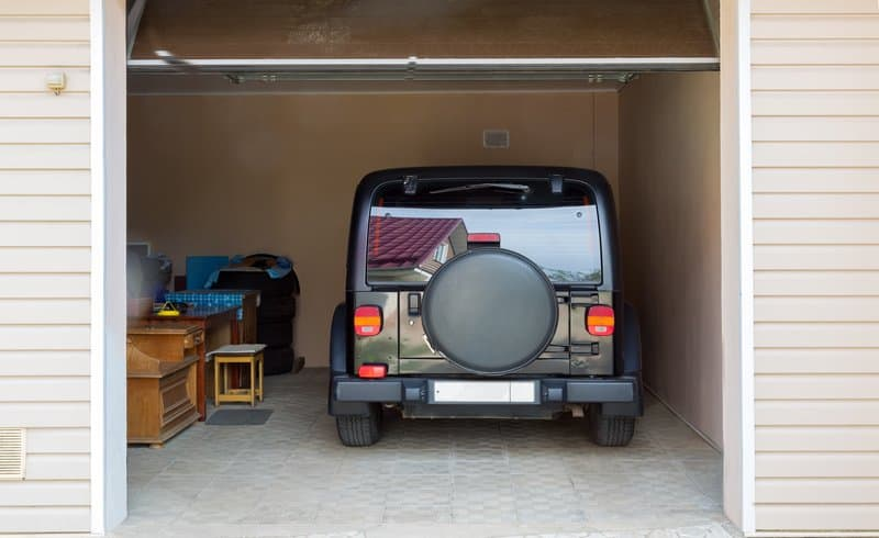 Car Stored in the Garage - Jeep