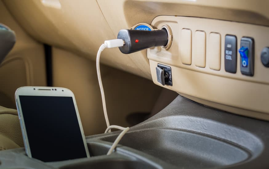 Car charge with phone charging 2