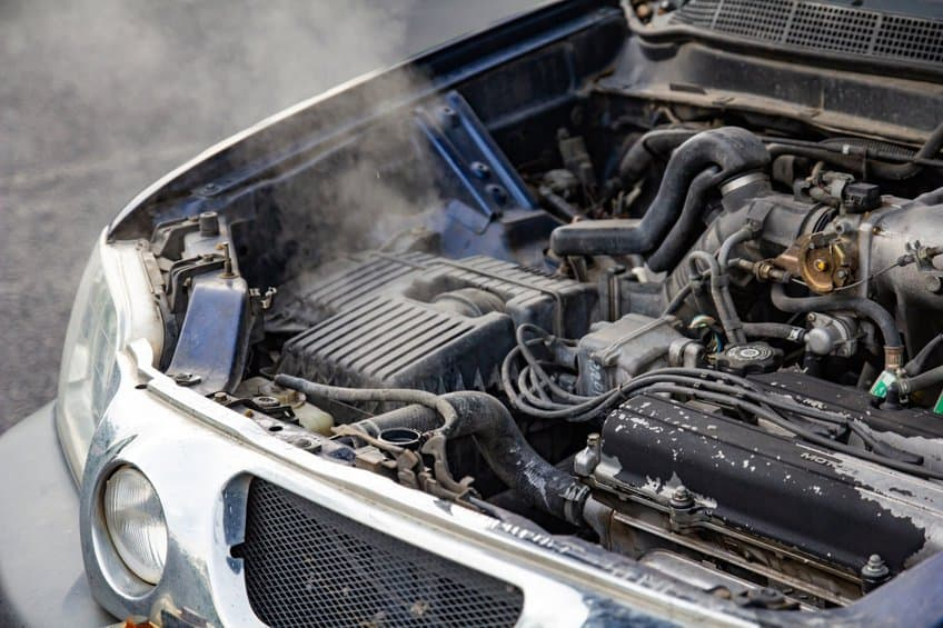 Car engine overheating with steam coming out 2
