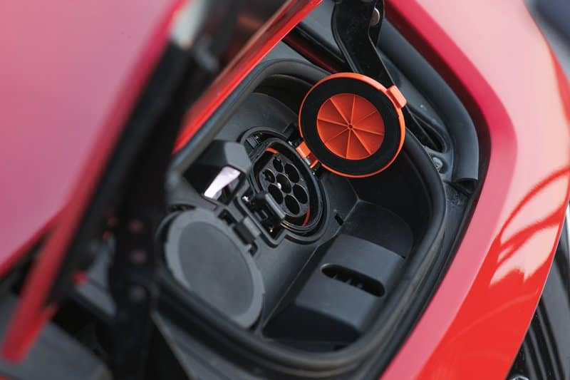 Electric car charger socket