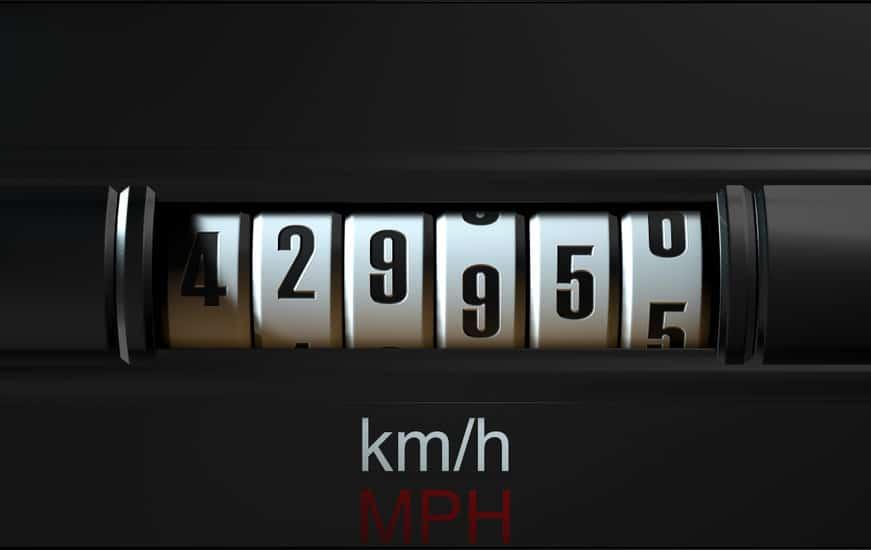 High mileage odometer