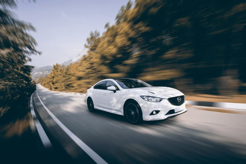 Mazda Speed Driving on The Road 2