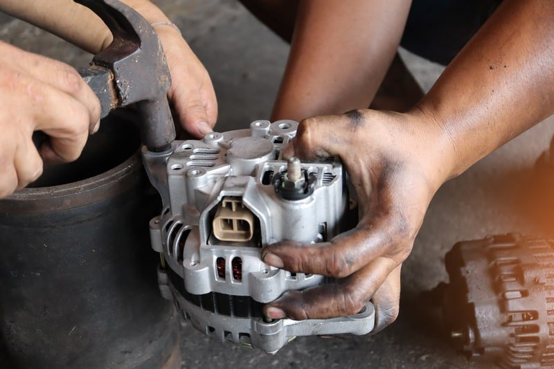 Removing the alternator