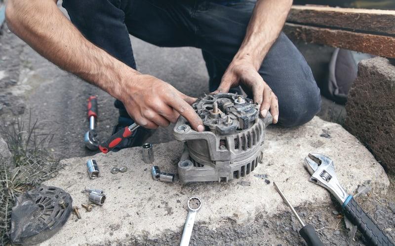 Repairing the alternator