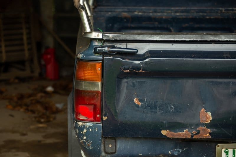 Rusted pickup truck