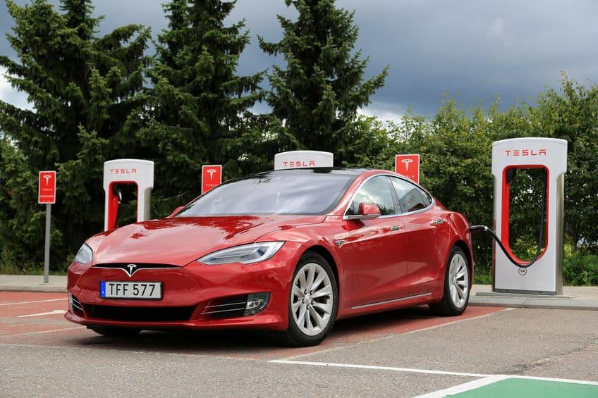 Tesla Model S Electric Vehicle charging