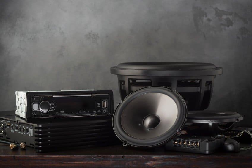 Car speaker audio stereo amplifier subwoofer set