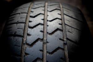 Old car automobile tire