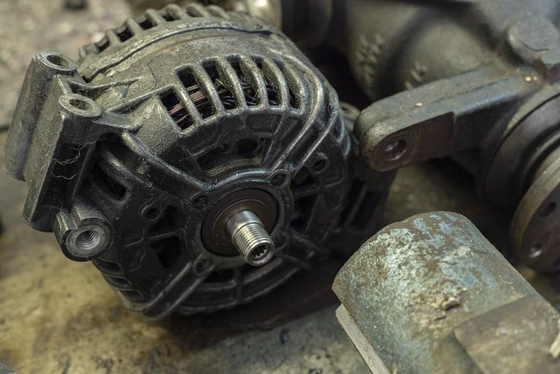 Old worn out car alternator