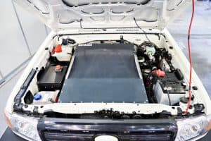 Pickup truck with a battery electric conversion EV
