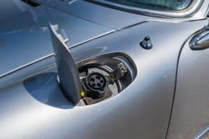 Porsche 912 EV Converted Electric Car Charge Port