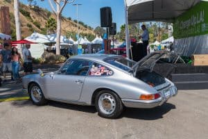 Porsche 912 EV Converted Electric Car From The Side